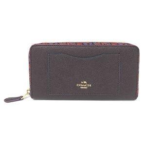 Coach F22763 Women's Accordion Zip Leather Wallet